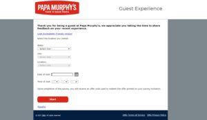Papasurvey – Get $20 Gift Card – Papa Murphy's Survey