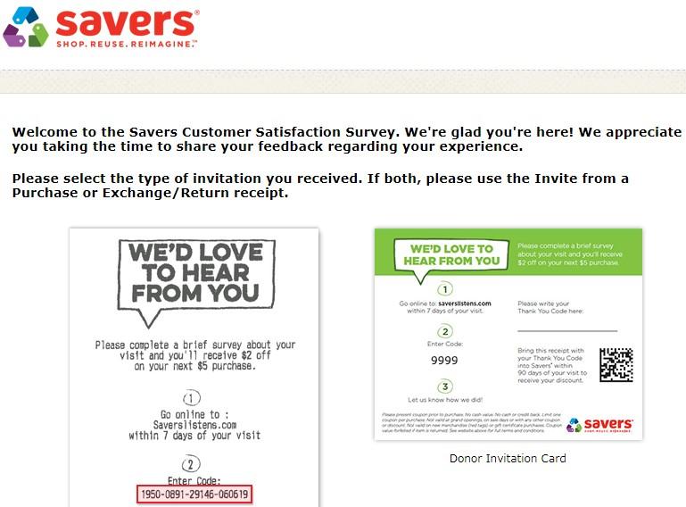 Saverslistens.com - Get $2 Off - Savers Survey
