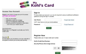 Kohls.com/Activate – Manage Your Kohl's Card