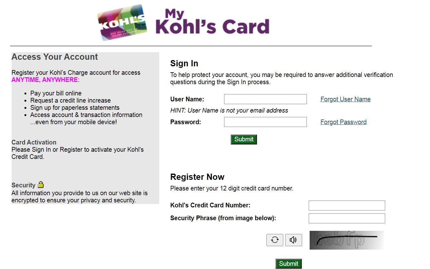 Kohls.com/Activate - Manage Your Kohl's Card