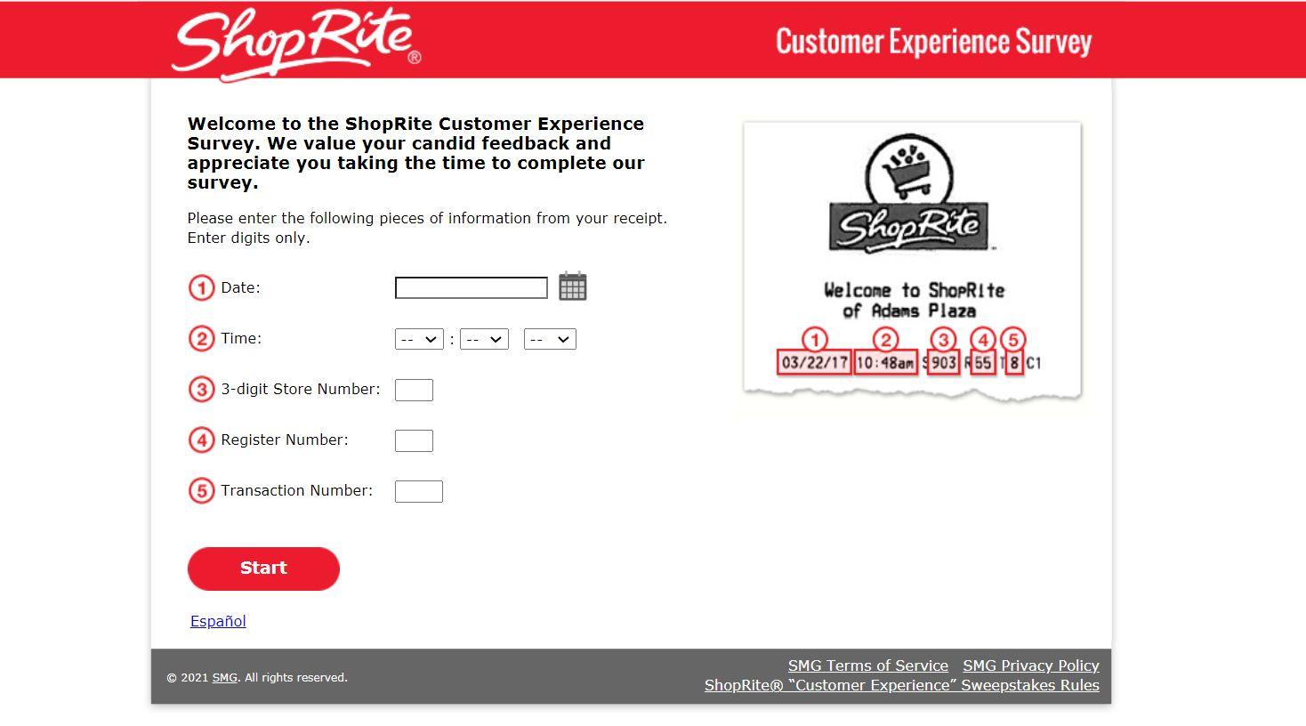 Myshopriteexperience.com - Win $500 Gift Card - Shop Rite Survey