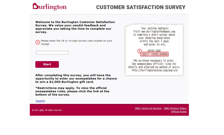 www.Burlington Feedback.com - Win $1000 Gift Card - Burlington Survey